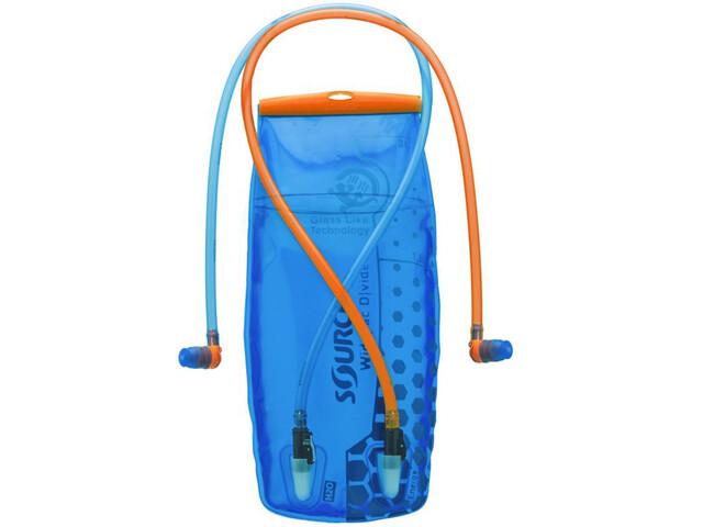 SOURCE Divide Widepac Væskeblære 2 Liter, transparent-blue